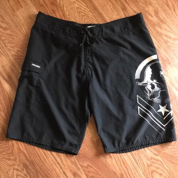 2a2dab4003371 Metal mulisha men's swim board shorts. M_5b672cb97ee9e27a3c5a6b81